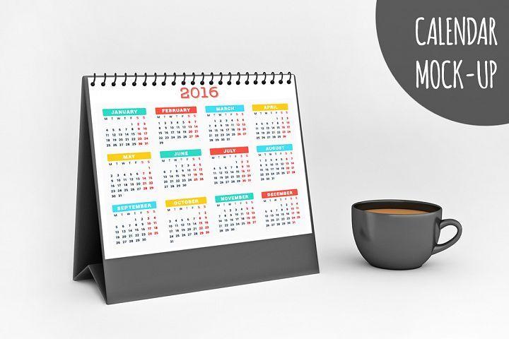 Calendar Mock-up V1 from DesignBundlesnet Mockups Pinterest
