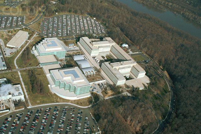 Aerial View of CIA Headquarters   CIA   Aerial view, Spy