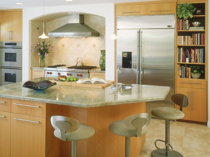 Contemporary Kitchen Cabinets with Alder Wood, Clear Finish and ...
