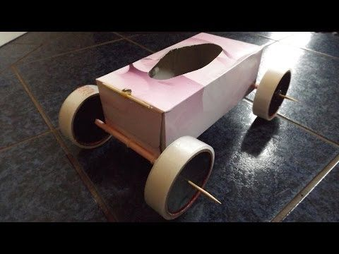 Tissue Box Rubber Band Powered Car Youtube Crafts