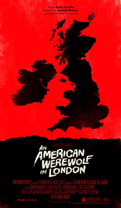 Mondo were kind enough to ask me to make a poster for the 30th anniversary screening of An American Werewolf in London featuring a Q with the legendary Rick Baker.