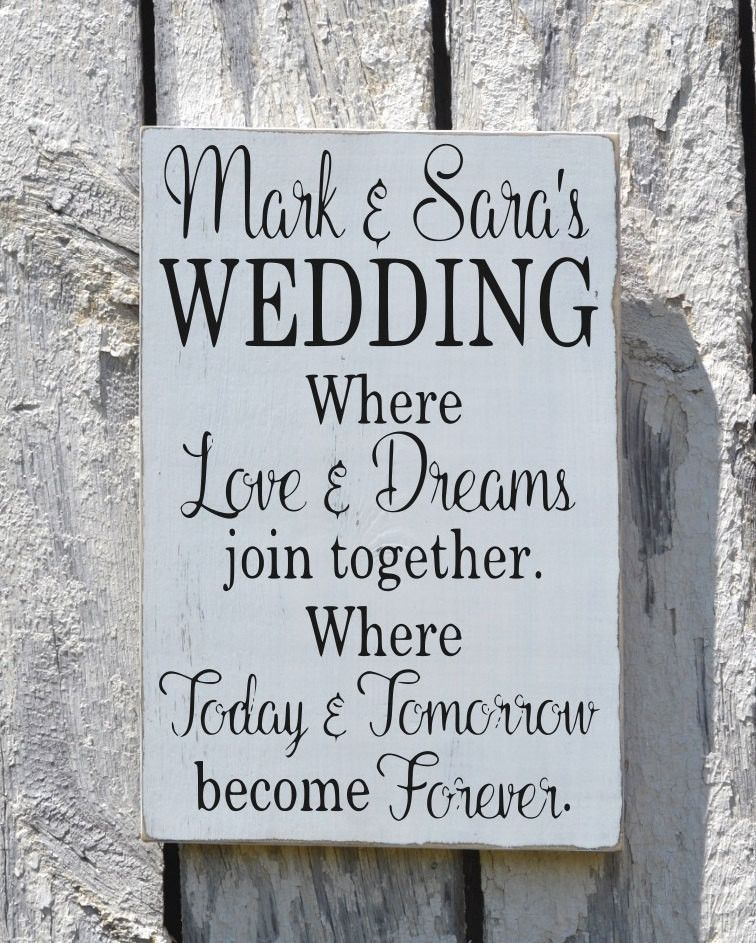 Rustic Wedding Sign Welcome Personalized Signs For Weddings Love