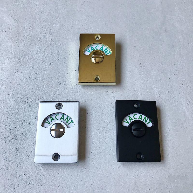 イギリス製のレクタングル表示錠 無駄のないスッキリとしたデザインと