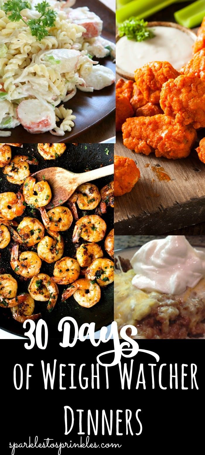 30 Days of Weight Watcher Dinners images