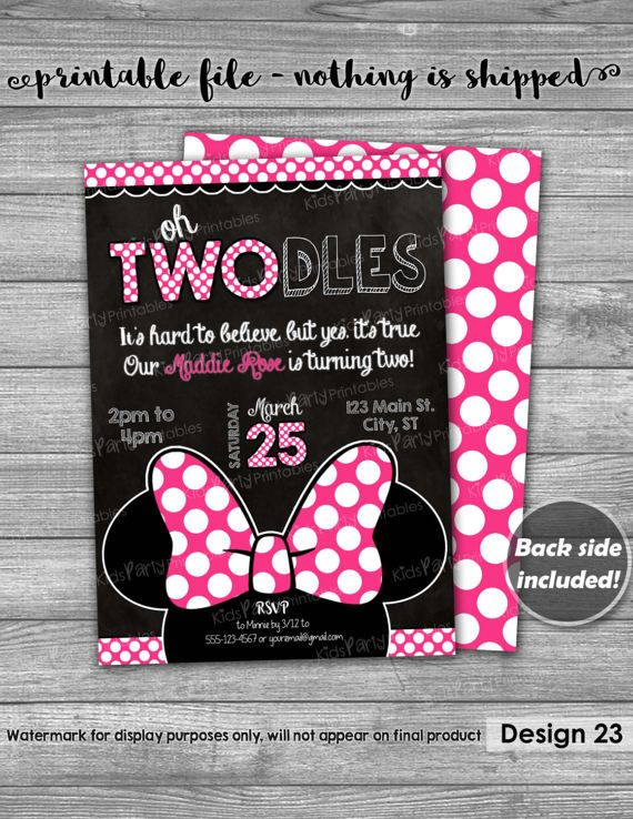 oh twodles birthday invitation