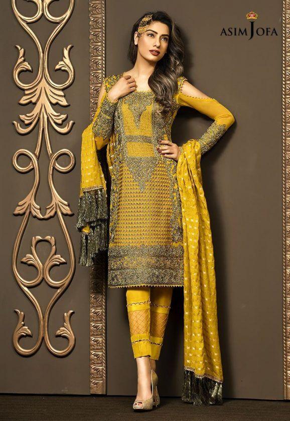 b846becdbd Pakistani Fancy Dresses Asim Jofa Mysorie Chiffon Collection 2017-18 (21)