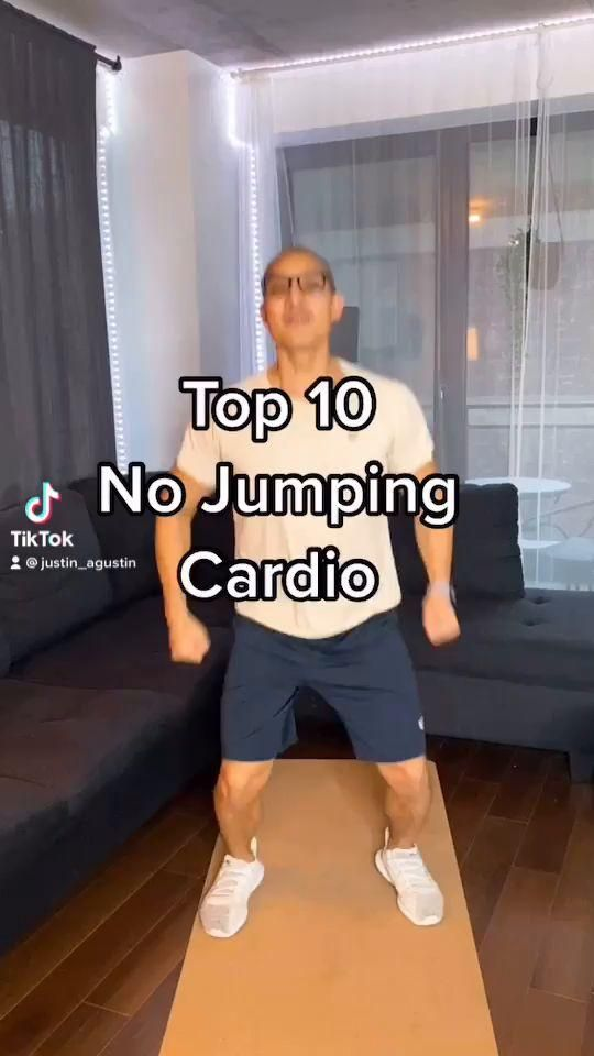 10 No Jumping Cardio Home Exercises