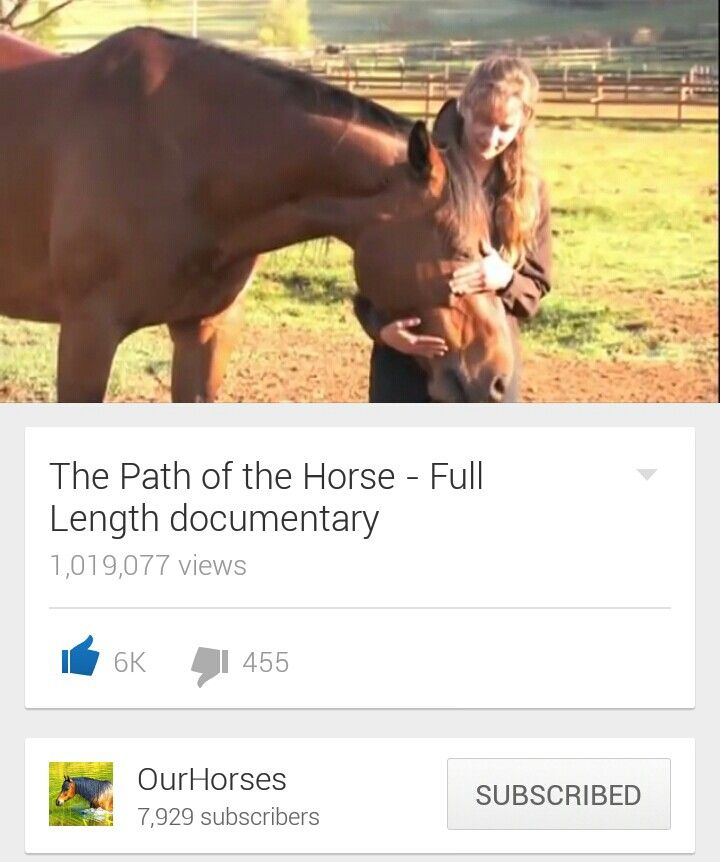 This is one of the best documentaries, I have ever seen, if you truly love your horse then you should watch this...