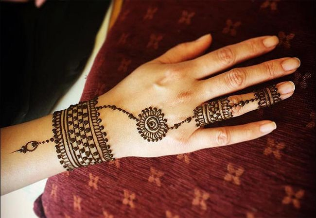 Mehndi Tattoo Cuff : Superb cuff and ring mehndi designs for women fashion
