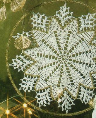 Sterndeckchen. fiocco neve bianco e oro (1)