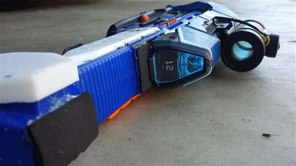Hacker mods Nerf gun into an awesome printed Halo 5 assault rifle