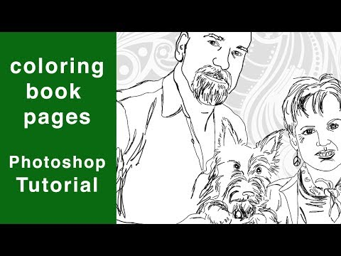 Photoshop Tutorial Coloring Book Pages Tracing In Ps Youtube Coloring Books Coloring Book Pages Photoshop Book