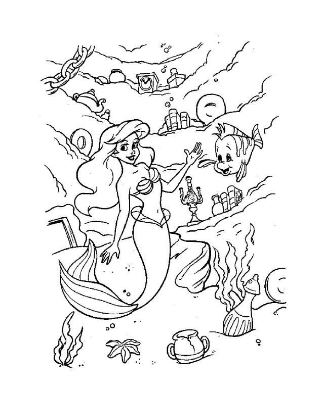 The Little Mermaid 9 Ariel Coloring Pages Princess Coloring Pages Cartoon Coloring Pages
