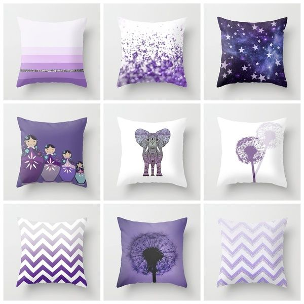 Purple Pillow Set Purple Pillows Purple Throw Pillows Purple Bedding