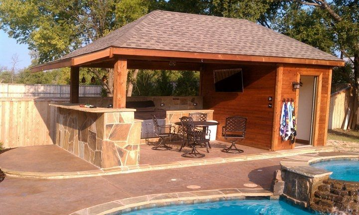 Outdoor Kitchen With Bathroom Google Search Rustic Outdoor Kitchens Outdoor Pool Bathroom Pool House Bathroom