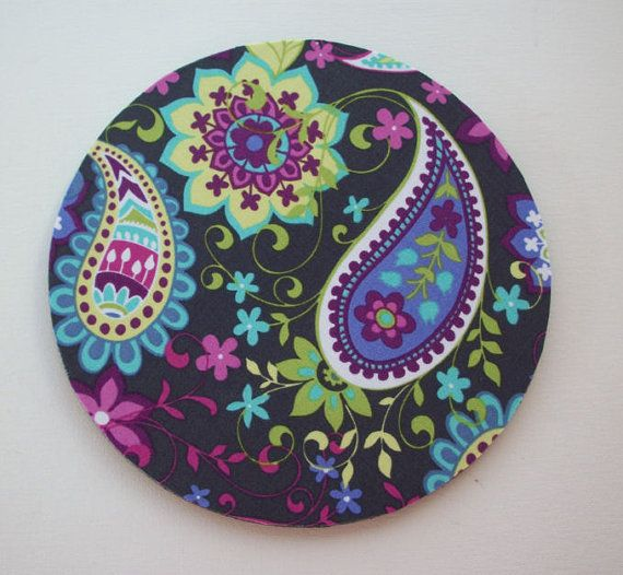 Mouse Pad / Mousepad / Mat Rectangle Or Round Paisley By