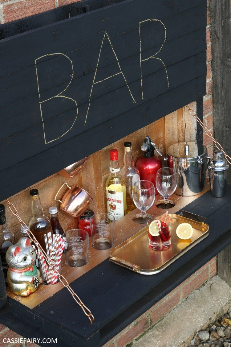 How To Diy A Light Up Outdoor Bar Using Pallets Amp Solar