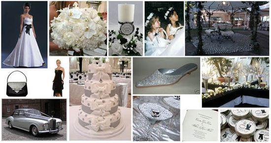 Black, White and Silver Weddings - Primadonna | http://amazingweddingdressphotos.blogspot.com