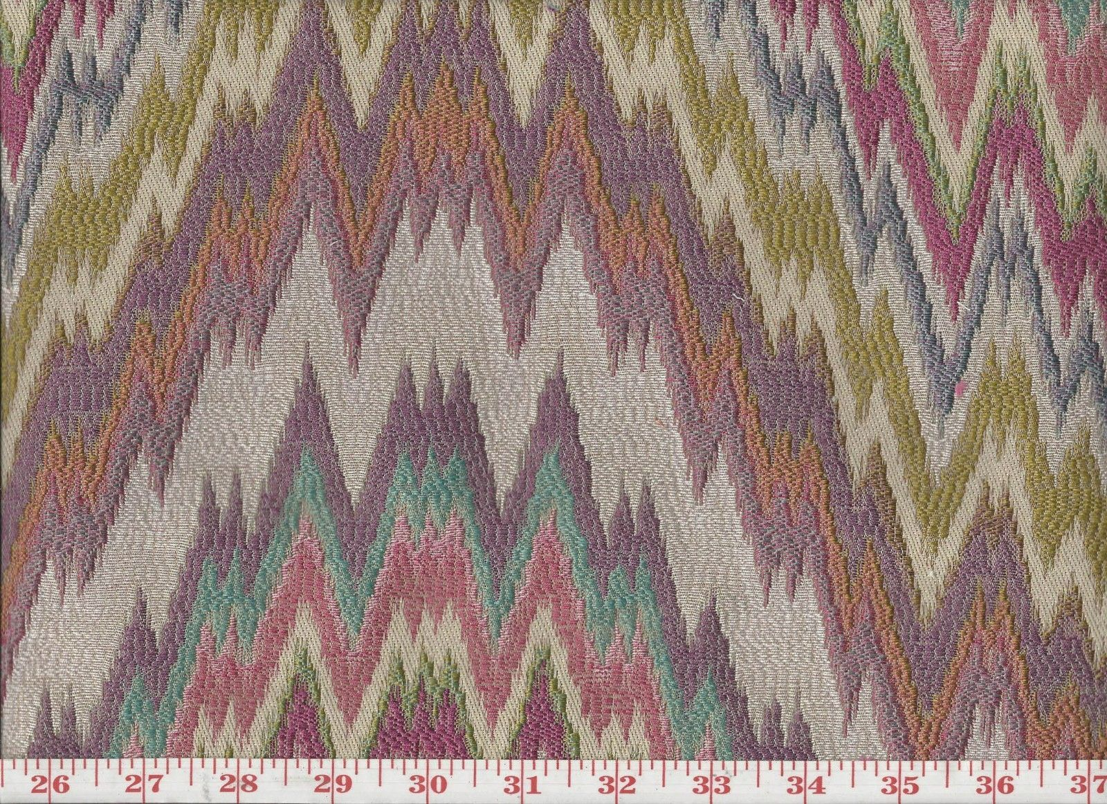 Pastel Flamestitch Upholstery Fabric By P Kaufmann Light My Fire Cl