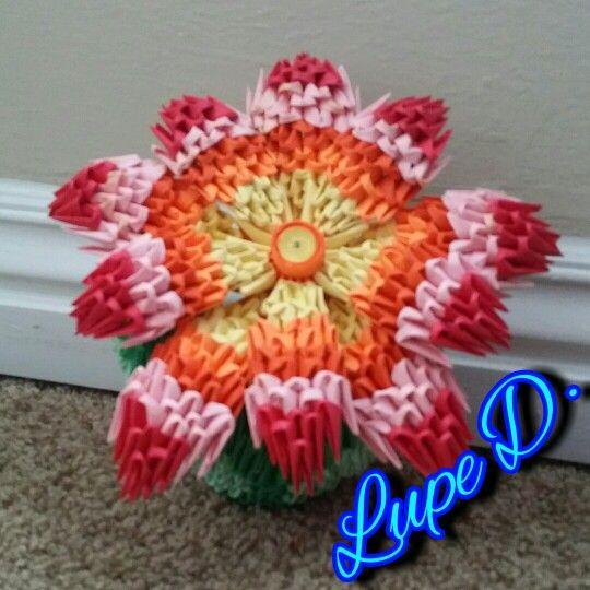 3d origami flower and vase 3d origami pinterest 3d origami 3d origami flower and vase mightylinksfo