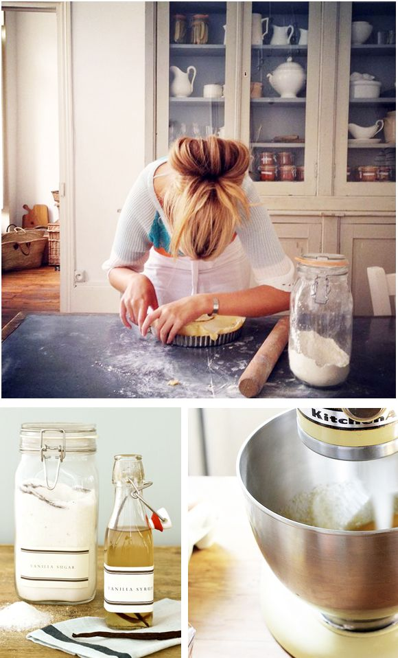 Love the casual feel of this kitchen  Baking via Arianna