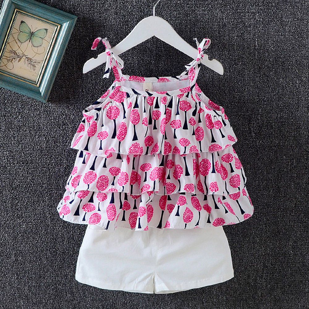 2pcs Baby Kid Girl Boy Leopard Cami Vest Pants Summer Clothes Set Suit Outfits
