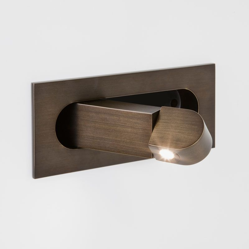 The Digit Led Reading Light Bronze Is Simple Yet Stylish And