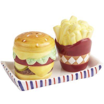 Hamburger & Fries Salt & Pepper Shakers @Verna Cooper Collier