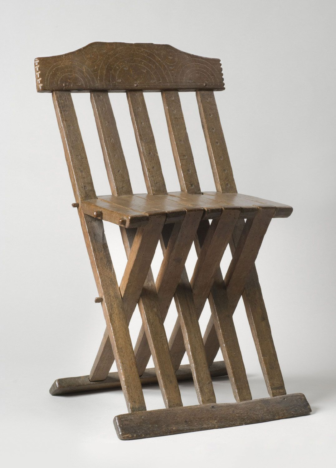 Italy Folding Chair 15th Century Beechwood 31 1 2