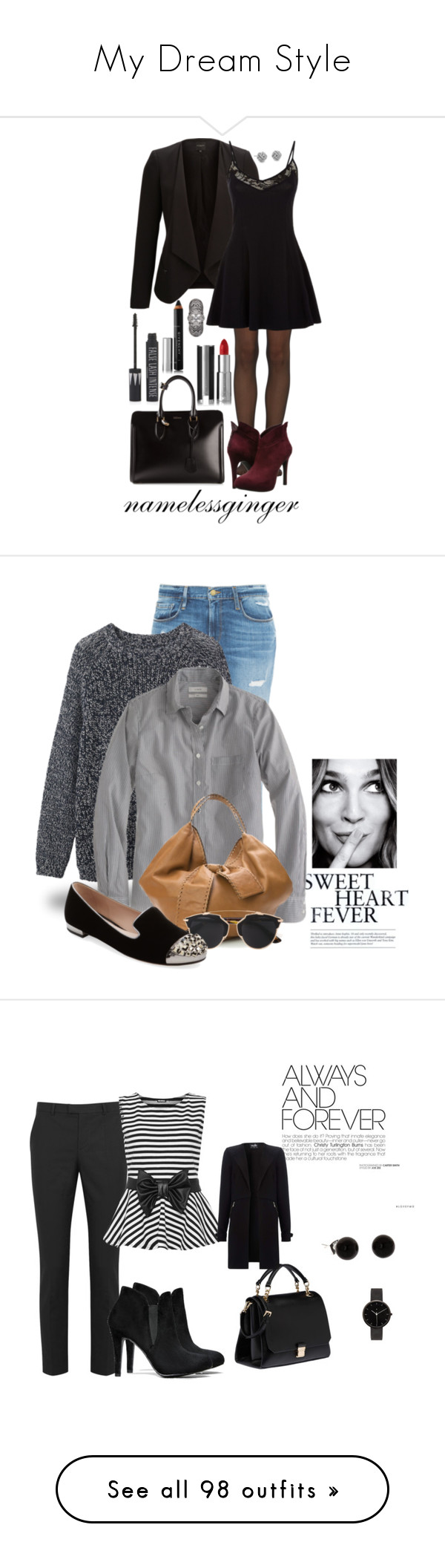 """""""My Dream Style"""" by anaevans11 ❤ liked on Polyvore featuring SELECTED, Wolford, Jessica Simpson, Givenchy, Topshop, Alexander McQueen, Blue Nile, BCBGMAXAZRIA, skirts and bottoms"""