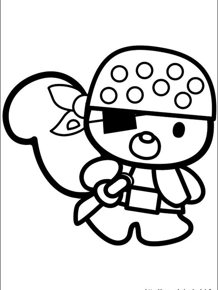 Hello Kitty Candy Coloring Pages