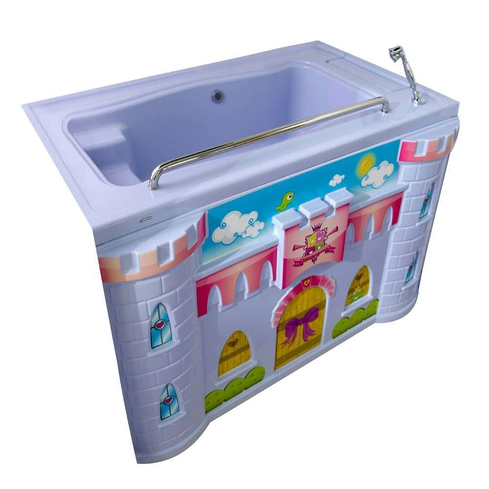 American Standard FunBath Castle 5 ft. Reversible Drain Kid\'s ...