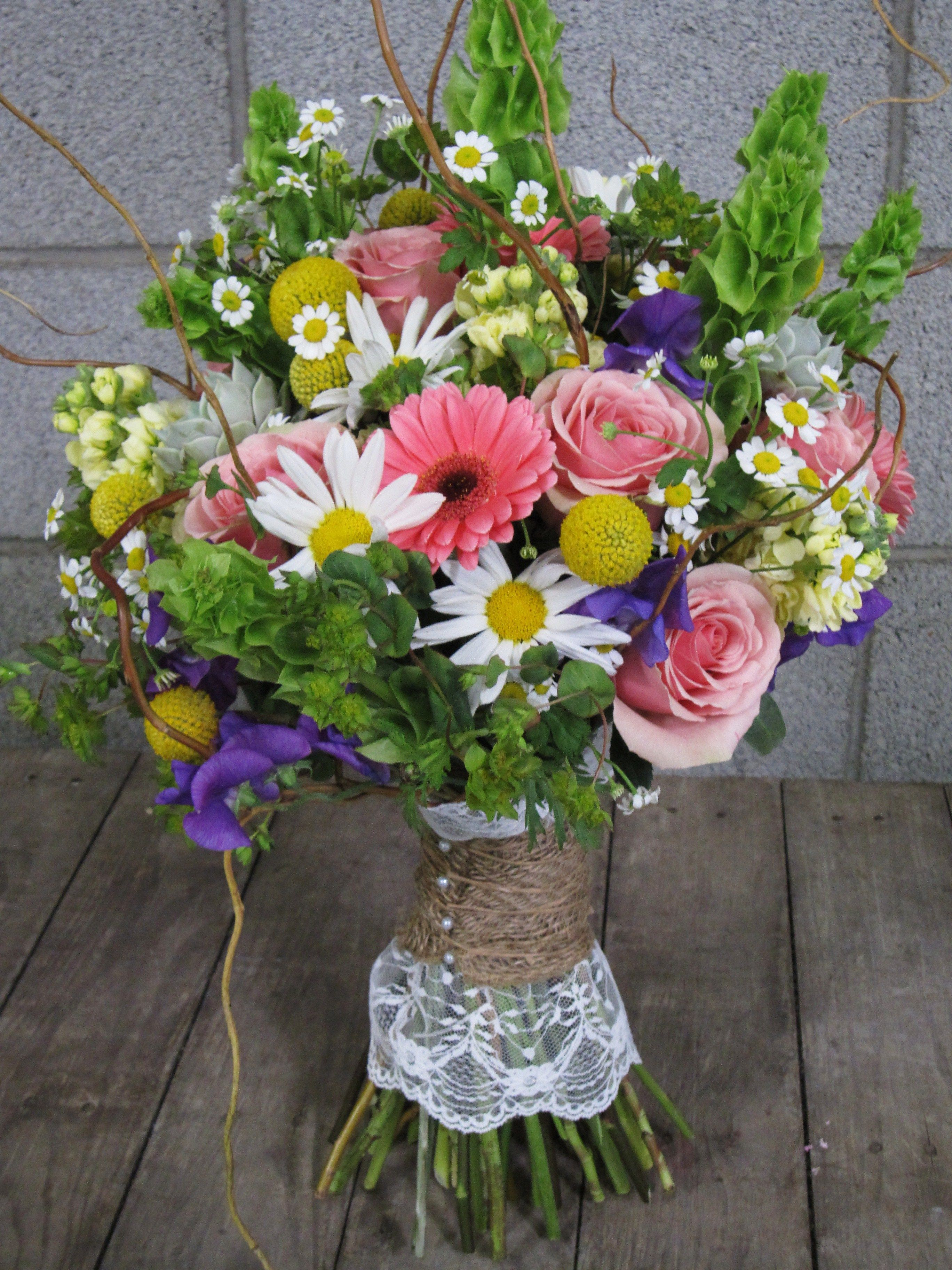 Whimsical, wildflower bouquet by Fleurt Floral Art