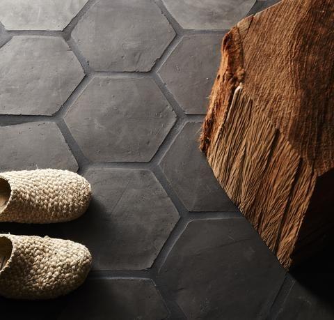 Belgian Reproduction Flemish Black Terracotta Hex 8 Quot X9 Quot X1