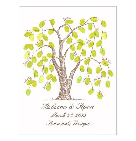 Customizable Thumbprint Tree Wedding Guest Book Alternative ...