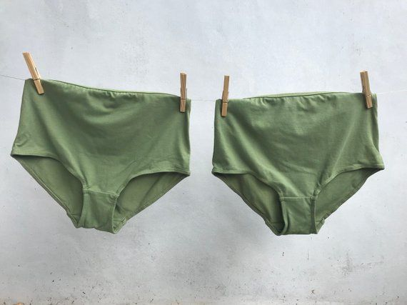 b90dee41b2 PACK of TWO Small Size organic cotton knickers   soft comfortable highwaist  panties   natural dye lingerie   full briefs panties   VEGAN