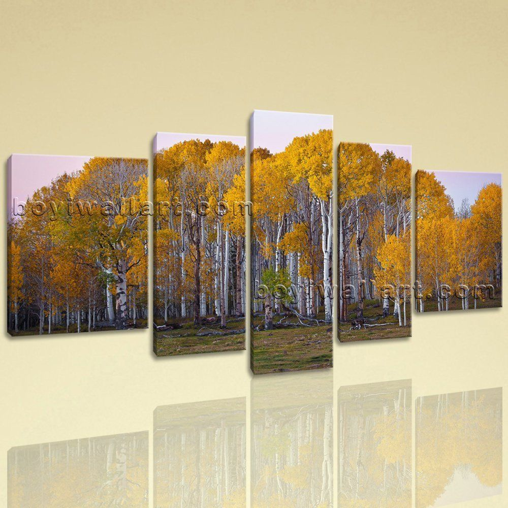Extra large deciduous forest fall landscape photography wall art