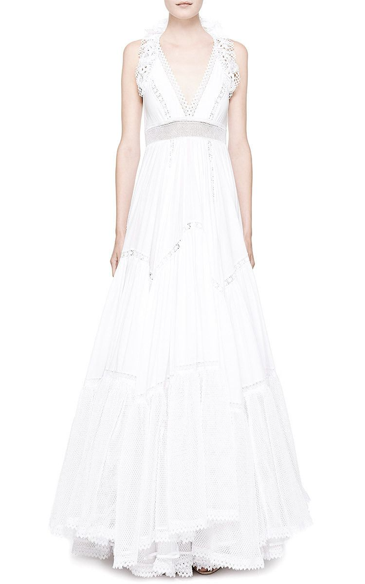 Simple dress for civil wedding  White Maxi Summer Dress by Natasha Zinko for Preorder on Moda