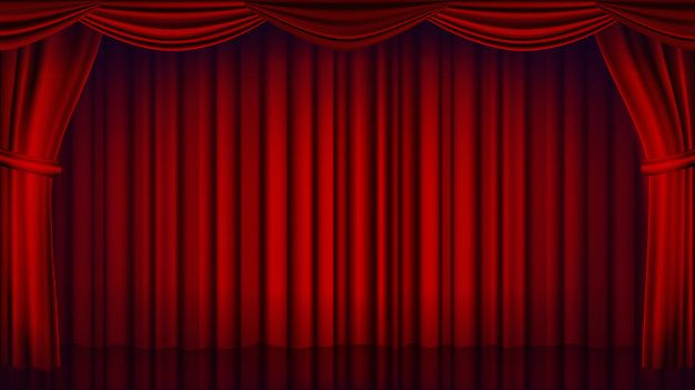 Red Theater Curtain Backdrop Theater Opera Or Cinema Closed Scene Background Realistic Red Drapes Illustration Theatre Curtains Red Drapes Curtain Backdrops