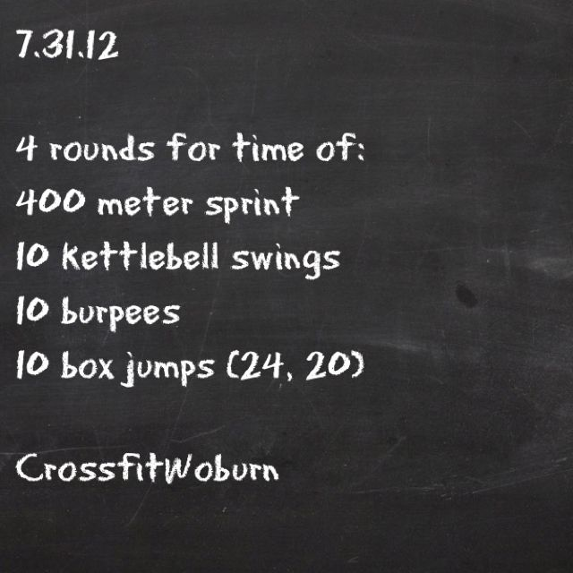 WOD 7.31.12 Crossfit ~ Re-Pinned by Crossed Irons Fitness