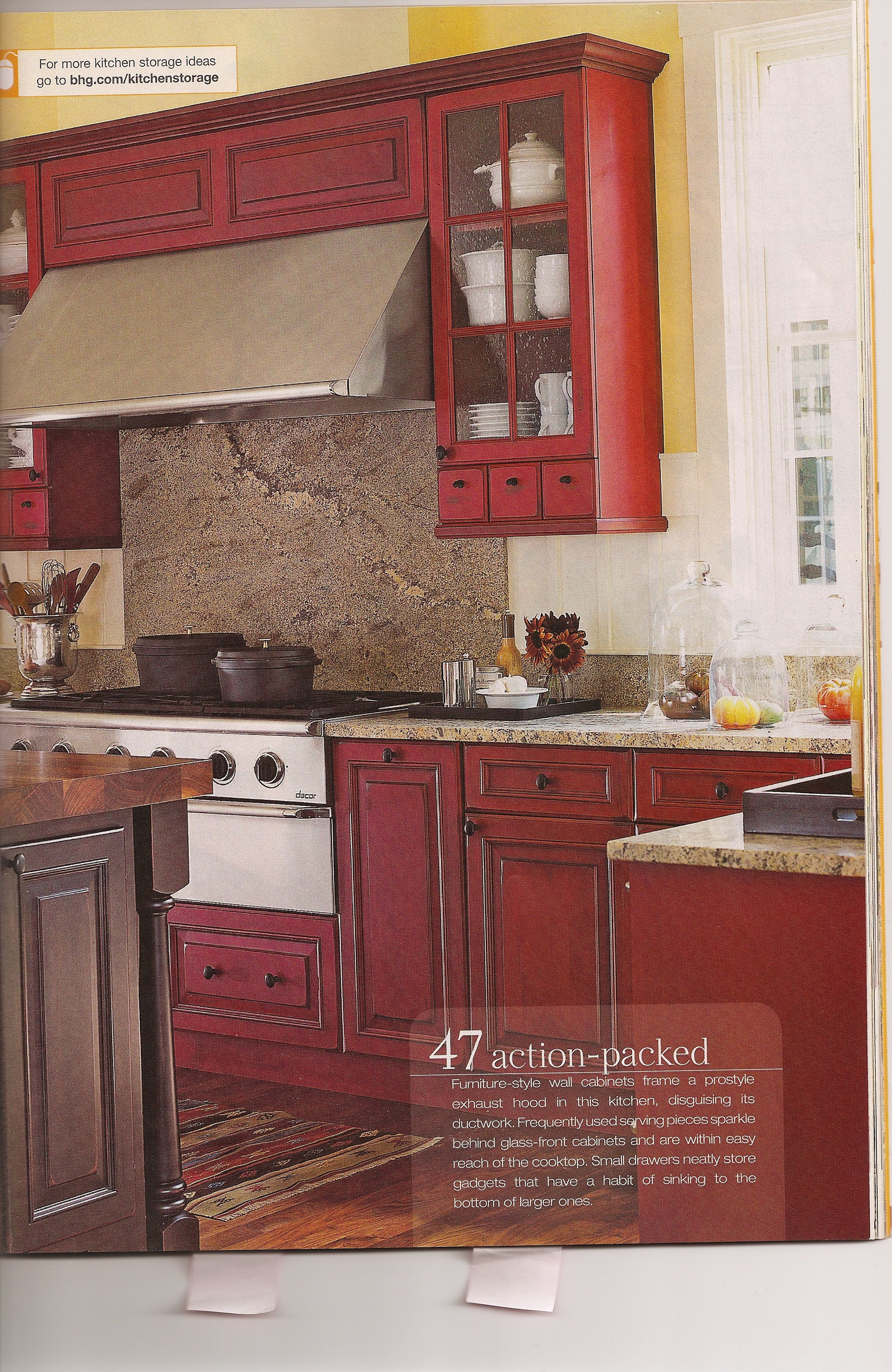 Red And Yellow Kitchen Ideas Red Kitchen Trendy Farmhouse