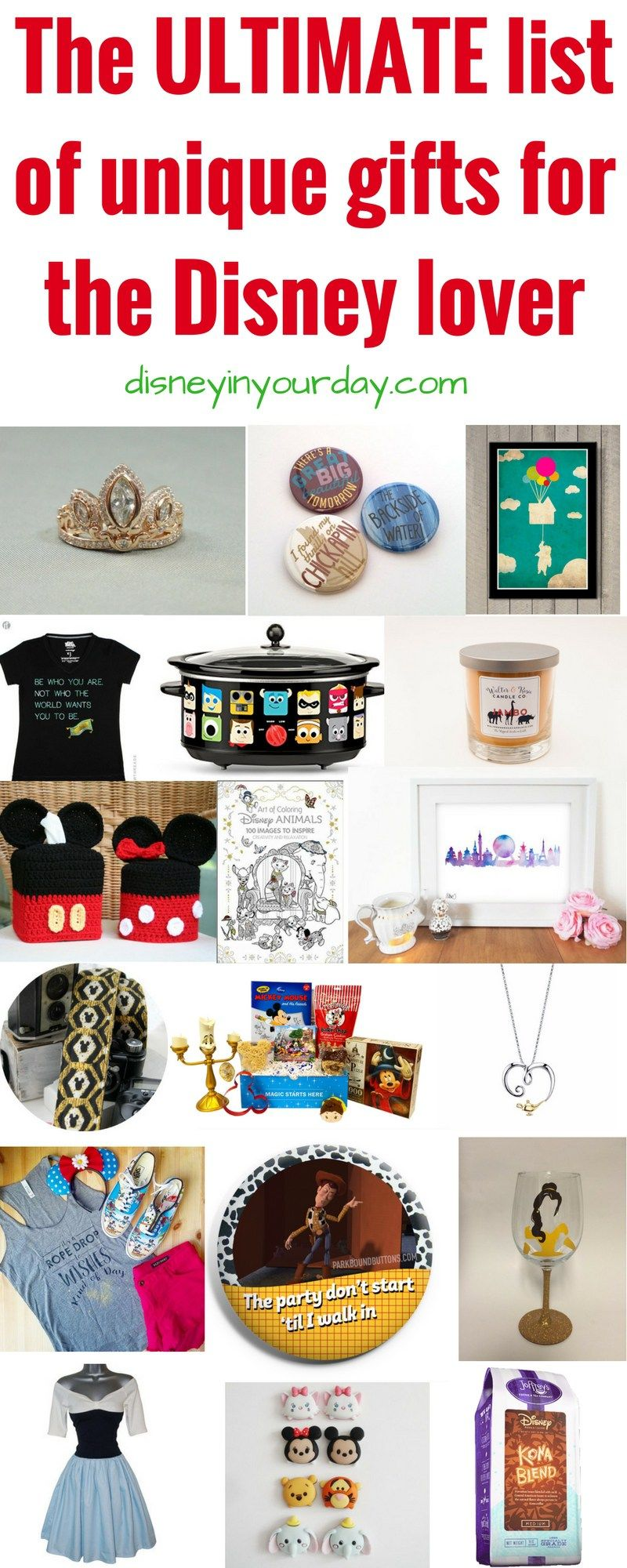 Unique gifts for Disney lovers - Disney in your Day  sc 1 st  Pinterest & Unique gifts for the Disney Lover | Disney Holiday Decorating Ideas ...