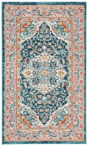Safavieh Phoenix Ivory And Blue 3 X 5 Area Rug Area Rugs Rugs