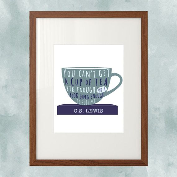 Instant Download Cs Lewis Quote 8x10 You Cant Find A Cup Of