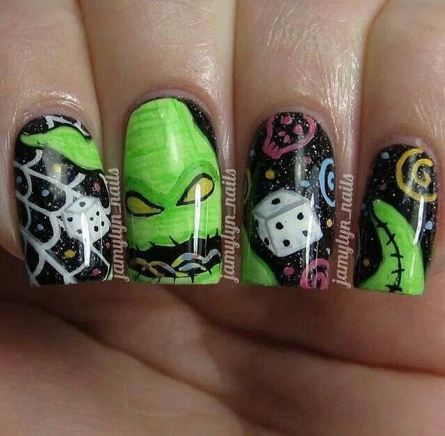 Oogie Boogie Dice! | Nails! | Pinterest