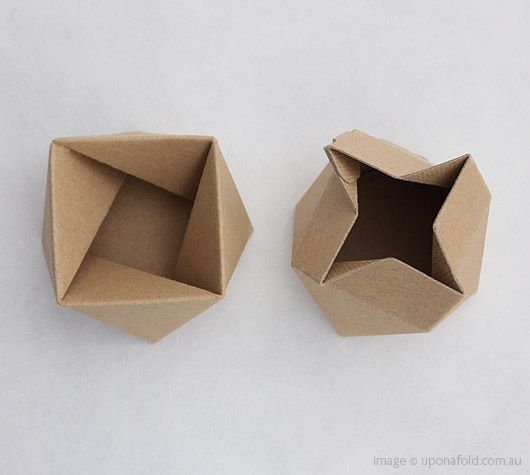 From two sheets of cardboard a spiral form can be folded to create ...