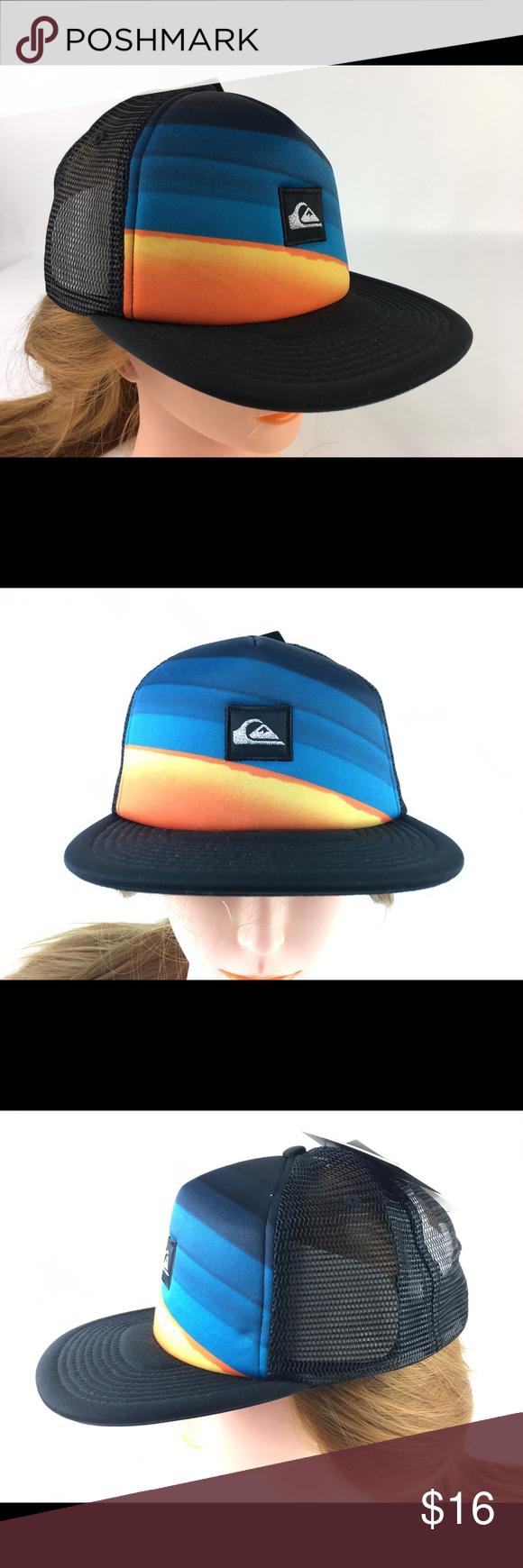 c137f56cee42f Quiksilver™ Slash Turner Trucker Hat Trucker hat for men. Features include   5 panel