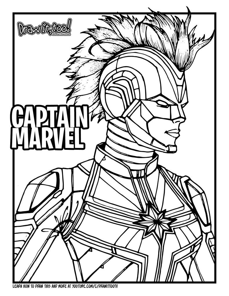 Captain Marvel Coloring Pages Avengers Coloring Pages Marvel Coloring Avengers Coloring