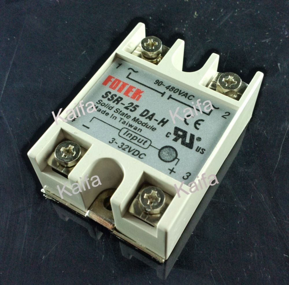 Solid State Relay Ssr 25da H 25a Dc To Ac Circuit Breaker 2 Pole 230v 50 60hz For Gas Diesel Generator