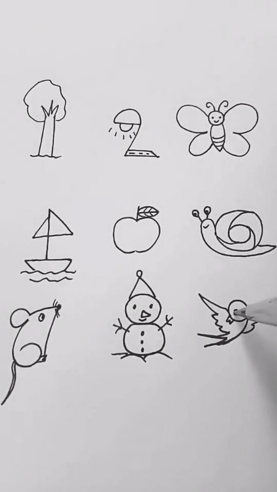 Interesting Easy Drawing Ideas Tutorial For Numbers Let S Kids Try It Dra Easy Drawings Art Drawings For Kids Easy Drawings For Kids